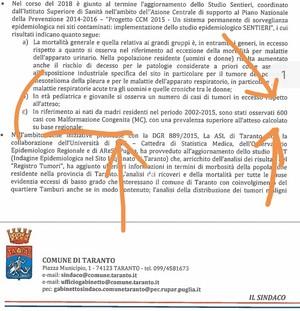 A Taranto 600 bambini nati malformati