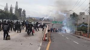 Repressione della polizia militare (Foto G. Trucchi | Rel-UITA)