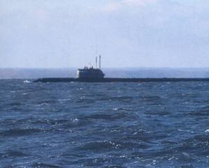 L'unica immagine disponibile del sottomarino nucleare Losharik, pubblicata per errore su una rivista di automobili russa
