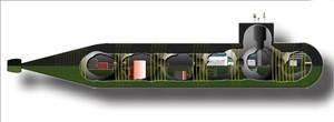 La struttura a 6 scompartimenti sferici del sottomarino nucleare russo AS-31