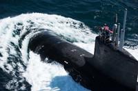 sottomarino nucleare statunitense durante l'esercitazione Dynamic Manta 2018, a largo delle coste della Sicilia orientale