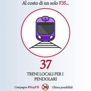 Stop F35 - Alternativa: treni per pendolari