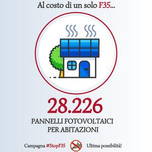 StopF35 - alternativa pannelli fotovoltaici