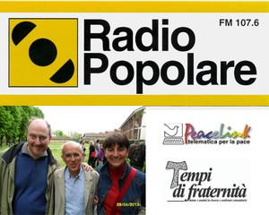 Intervista a Vittorio Agnoletto di Danilo Minisini e Laura Tussi - menzione su RADIO POPOLARE