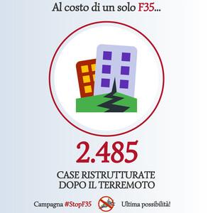 Stop F35 - case ristutturate terremoto