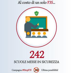 Stop F35 - alternativa scuole messe in sicurezza