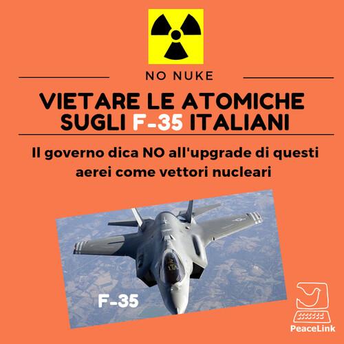 Il 6 agosto 1945 a Hiroshima gli Stati Uniti lanciavano la prima bomba atomica. Il 9 agosto agosto fu la volta di Nagasaki. L'effetto fu devastante. Il momento di agire è oggi. In tutto il mondo le nazioni discutono la messa al bando per le armi atomiche, alcune hanno già aderito al bando approvato dall'Assemblea Generale dell'ONU. Ma in Italia è silenzio totale. Arriveranno le nuove armi nucleari per gli F-35. Nessun dibattito parlamentare è previsto. Il M5s, un tempo favorevole alla denuclearizzazione, tace. PeaceLink ritiene invece che invece la questione vada ripresa e discussa nelle sedi opportune.