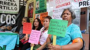 Famigliari dei detenuti politici digiunano in solidarietà (Foto G. Trucchi | Rel-UITA)