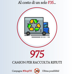 Stop F35 - Alternativa Camion rifiuti