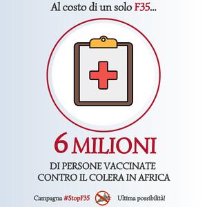 Stop F35 - Alternativa vaccini colera Africa