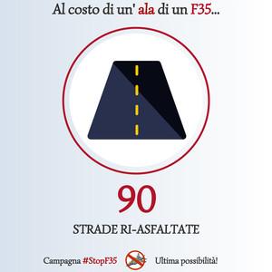 Stop F35 - Alternativa strade asfaltate