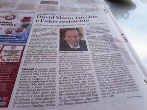 """Laura Tussi e Fabrizio Cracolici propongono a Mimesis Edizioni la versione autoprodotta del libro """"David Maria Turoldo, il Resistente"""""""