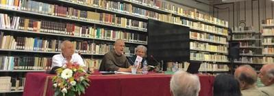Pino Blasone, Jason Welle e Carlo Ruta alla conferenza di Roma