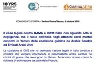Caso contro UAMA e RWM: non solo negligenza, ma il ruolo dell'Italia negli attacchi mortali in Yemen