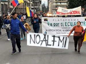proteste contro Lenin Moreno