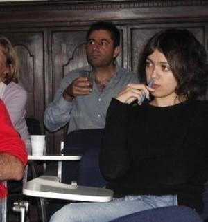 Francesca Borri nel 2006 durante il seminario di PeaceLink a Tavarnuzze (FI).