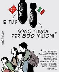 Rete Disarmo: bene Di Maio su embargo armi UE verso Turchia, necessario immediato stop dell'Italia