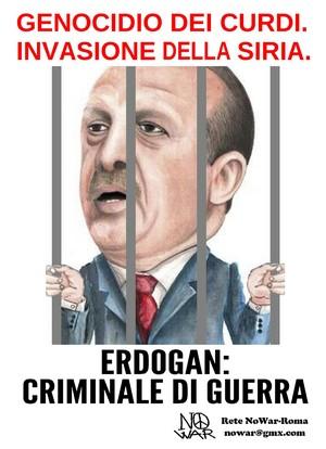 NO all'invasione della Siria e al genocidio dei curdi