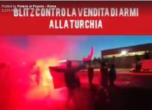 Blitz contro la vendita di armi alla Turchia -- Potere al Popolo - Roma