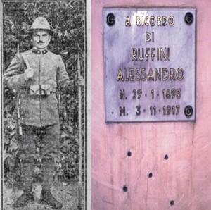 In memoria di Alessandro Ruffini, fucilato da un generale italiano durante la prima guerra mondiale perché fumava il sigaro e sorrideva