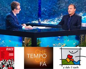 Fabio Fazio in prima serata su Rai2 illustra il Libro RIACE. MUSICA PER L'UMANITA'