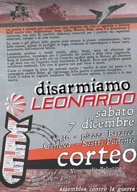 """Partecipiamo al corteo """"Disarmiamo Leonardo"""" per dire al MEF: ritiro o riconversione!"""