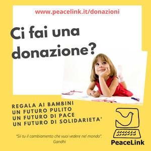 Infografica per la donazione a PeaceLink