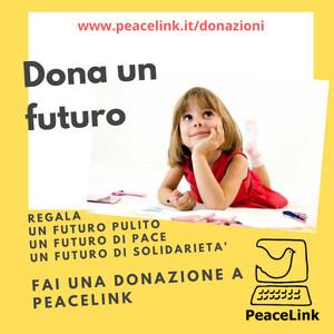 Per Natale puoi fare una donazione a PeaceLink cliccando qui