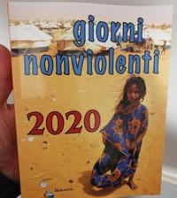 """Buon 2020 con l'agenda """"Giorni nonviolenti"""""""
