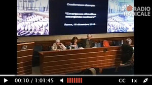 I relatori della Conferenza Stampa al Senato della Repubblica