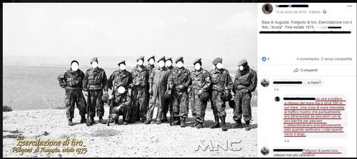 Poligono di Punta Izzo, foto ricordo di alcuni militari durante un'esercitazione del 1975. La testimonianza di un ex militare pubblicata su facebook