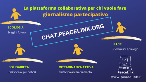 """Ogni mercoledì alle ore 21 PeaceLink realizza un incontro telematico in videoconferenza sul giornalismo partecipativo e la cittadinanza attiva. Questa modalità si chiama """"webinar"""". PeaceLink la offre in forma gratuita. Per registrarti al prossimo webinar clicca qui."""