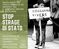 Per la salute e contro l'inquinamento in piazza a Taranto il prossimo 26 febbraio