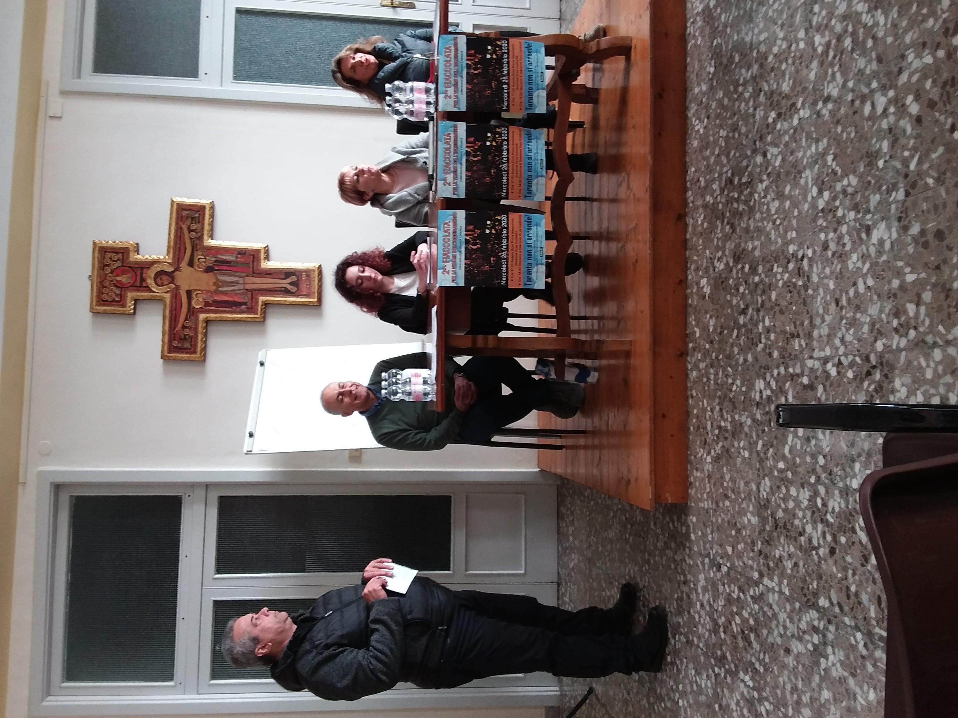 Conferenza stampa del 15 febbraio per la fiaccolata del 26 a San Pasquale