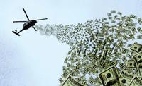 Non bombe ma denaro dagli elicotteri