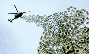 lancio denaro dagli elicotteri