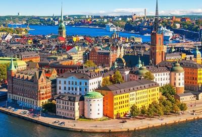 Un centro urbano in Svezia