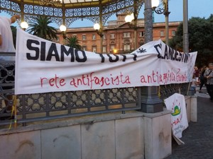 Manifestazione in piazza Garibaldi Taranto 31 agosto 2018