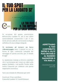 """Contest per l'anniversario dell'enciclica """"Laudato sì"""""""