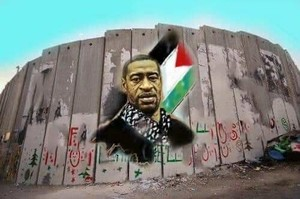 George Floyd, murales anche in Palestina
