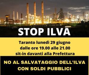 No al salvataggio dell'ILVA con soldi pubblici