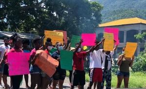 Proteste a Triunfo de la Cruz (Foto Ofraneh)