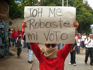Manifestazione contro i brogli in Honduras (Foto archivio G. Trucchi|Rel UITA)