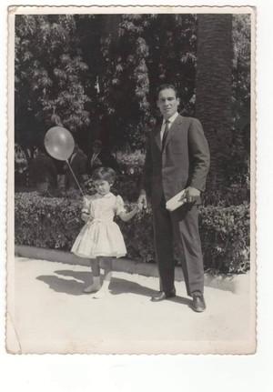 Adriana De Mitri con il suo papà Luigi