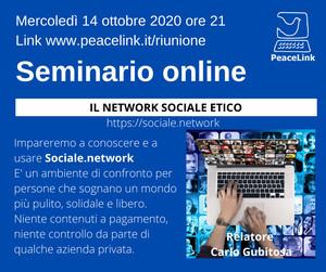 Webinar di PeaceLink sul Network Sociale Etico