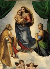 La Madonna Sistina è un dipinto a olio su tela (265x196 cm) di Raffaello, databile al 1513-1514 circa e conservato nella Gemäldegalerie di Dresda.