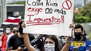 Proteste a San José (Foto AFP)