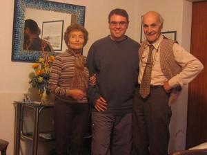Carlo Gubitosa con i genitori di Alessandro Marescotti: Fiorenza e Luciano
