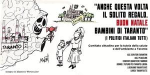 Il manifesto affisso a Taranto in coincidenza con la firma dell'accordo fra ArcelorMittal e Governo per garantire la prosecuzione della produzione dello stabilimento ILVA