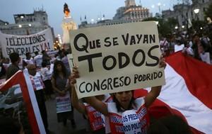 Un unico grido dal Perù al Guatemala: que se vayan todos